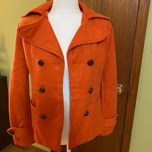 Forever 21 orange short peacoat size S